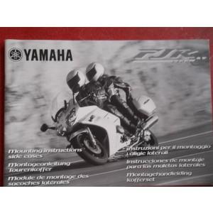 Manuel d'instruction pour le montage des valises pour Yamaha FJR 1300