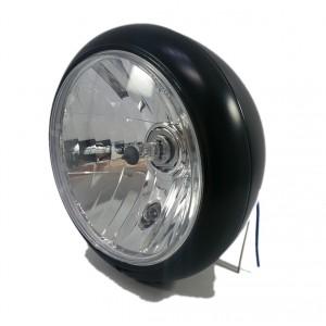 Phare rond noir avec fixation centrale Diam 200 mm