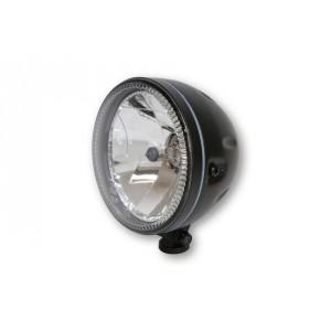Phare rond noir avec veilleuse circulaire à leds Diam 147 mm