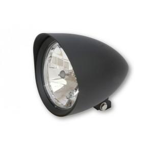 Phare moto custom noir, Diam 5 ¾ pouces