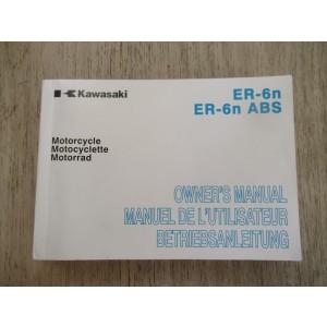Manuel de propriétaire Kawaskai ER-6N 2012 (99976-1645)