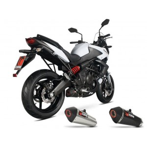 Silencieux homologué Scorpion Serket inox brossé Kawasaki 650 Versys 2013 et +