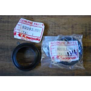 Paire de caches poussière de fourche neuf Kawasaki 1100GPZ, GPZ 750 X, EL 600 Eliminator 1995-97, ZZR250 99-02