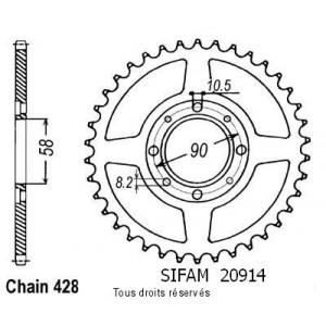 Couronne Cb 125 S/T2/Twin 79-8   Pas428/Z380