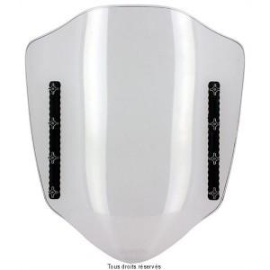 Parebrise Transparent Réglable L 430 / 450 mm + Kit Fixation Pour Montage Rétroviseur1
