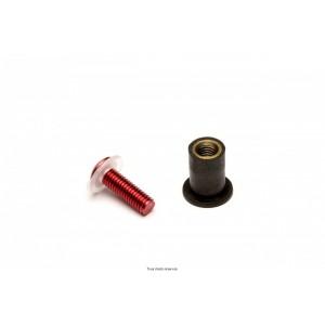 Kit Visserie Parebrise Rouge X8 Pièces Ø4 Long15  0