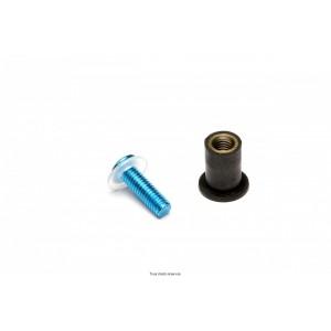 Kit Visserie Parebrise Bleu X8 Pièces Ø4 Long15  0