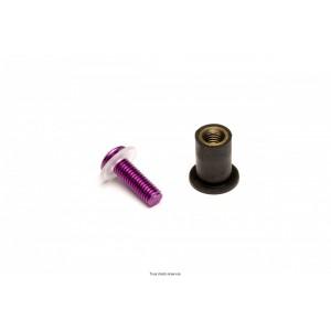 Kit Visserie Parebrise Violet X8 Pièces Ø4 Long15  0