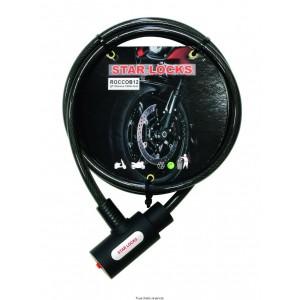 Câble Tressé Ø 10mm x 1500mm Livré avec 2 clefs0