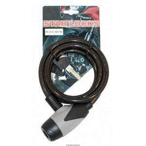 Antivol Câble Tressé Ø 10 x 1200mm Fumé0