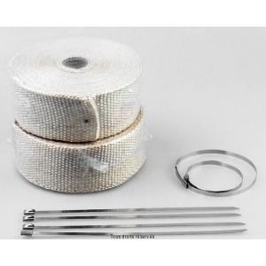 Bande Thermique Echapp. 10M Couleur Cuivre + 4 Fixations Largeur: 50mm - Ep: 1,5mm0