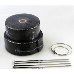 Bande Thermique Echapp. 10M Noire + 4 Fixations Largeur: 50mm - Ep: 1,5mm0