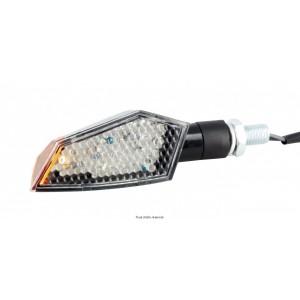 Paire de Mini Cligno LED C.E + Led Latérales - 100 x 35 mm Noirs - Homologués C.E0