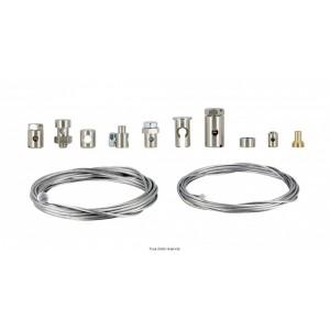 Kit de réparation cable différent serre cables et deux cables 2 Metres en Ø1.5 et 1.21