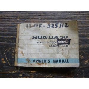 Manuel du propriétaire, d'entretien Honda SS 50 E 1972