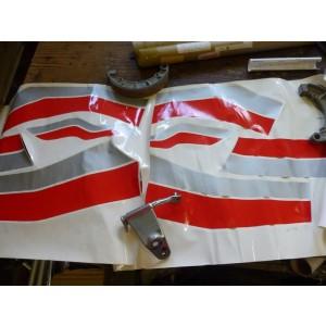 Kit décoration Yamaha 900 XJ (31A) noir/rouge/gris