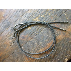 Jeu de deux câbles de gaz Kawasaki EN 500 (1990-93)