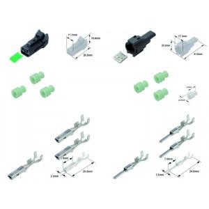 Kit connecteurs électriques étanches type 060 FRM avec 2 fiches blocs mâle et femelle