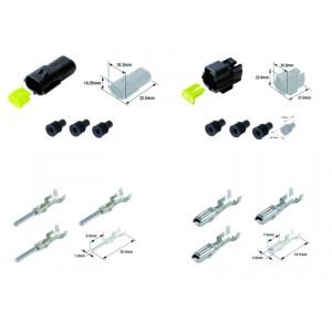 Kit connecteurs électriques étanches type 070 FRA avec 2 fiches blocs mâle et femelle