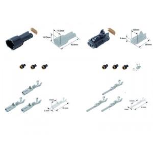 Kit connecteurs électriques étanches type 070 FRY avec 2 fiches blocs mâle et femelle