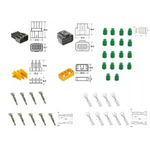 Kit de connexion type 090 FRKW étanche à 8 voies, bloc mâle et femelle