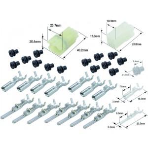 Kit connecteurs électriques étanches type 090 FRSH avec 6 fiches blocs mâle et femelle