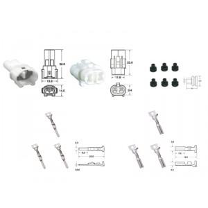Kit de connexion type 090 SMTO étanche à 2 voies, bloc mâle et femelle