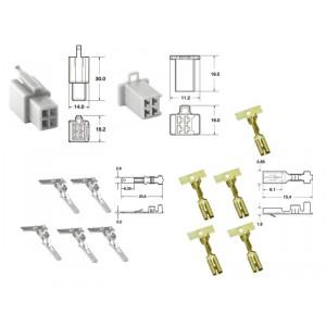 Kit de connexion type 110ML non étanche à 4 voies, bloc mâle et femelle