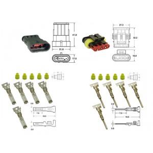 Kit de connexion type générique étanche à 4 voies, bloc mâle et femelle