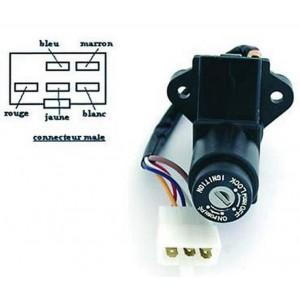 Contacteur à clé, neiman Kawasaki Z 400/550/650/1000, GPZ 500/550/750, KLE 500, GPZ 600/900 R, KLE 650 Versys