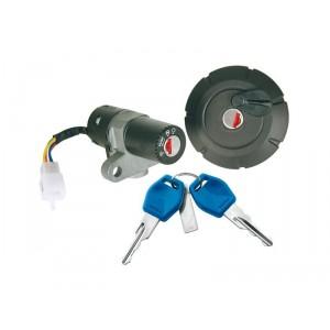 Contacteur à clé, neiman et bouchon réservoir YamahaDT 50 X/R 50 2007-11, XT 125 X/R 2007-2009
