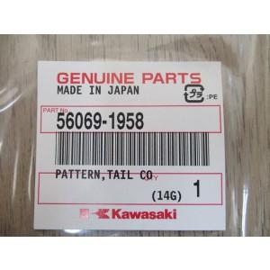 Sticker de coque arrière droite Kawasaki Z1000 2012