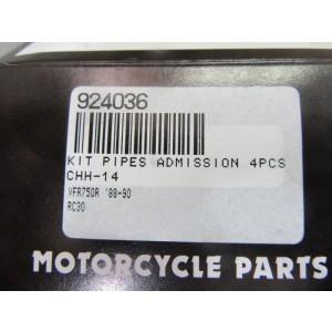 Jeu de 4 pipes d'admission Honda VFR 750 1988-1990