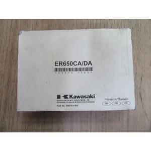 Manuel de propriétaire Kawasaki ER6 N 2009-2011 (99976-1563)