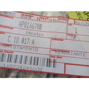 Sticker gauche de réservoir Aprilia 650 Pegaso 2005-2009 (AP8166780)