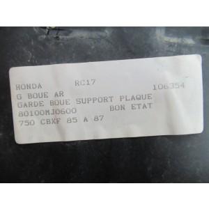 Garde boue arrière, support de plaque Honda 750 CBXF (RC17) 1985-1987