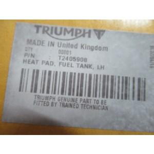 Mousses de protection de réservoir Triumph 675 Street Triple (R) 2013-2016 (T2405908, T2405909)