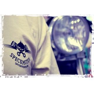 T-shirt homme Let's race Speck Moto bleu